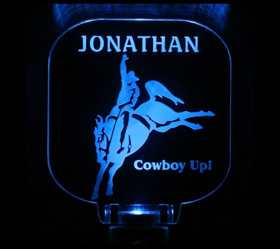 Bucking Bronco Horse Night Light Personalized Western Theme