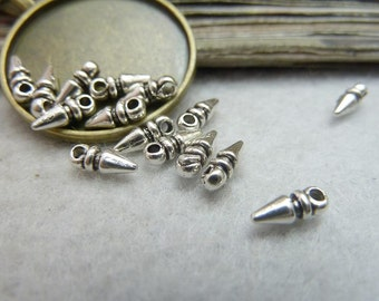 50pcs 3x8mm Water Drop Charms Handmade Jewelry Accessories A
