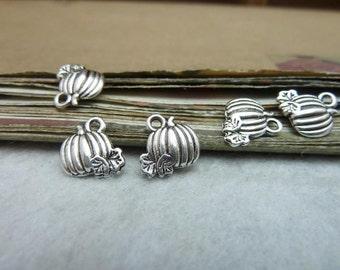 30pcs 10x11mm Antique Silver Halloween Pumpkin Charms Pumpkin Pendant A
