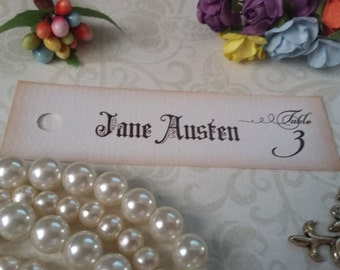 Table Number Personalized Tags - Custom Tags - Banner Tags - Flag Tags - Pennant Tag - Hang Tags - Set of 25 to 300 pieces