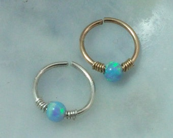 Nose Piercing - Nose Jewelry Ring - Nose Jewelry Hoop - Crystal Nose Ring - Septum Ring - Septum Hoop - Tiny Nose Ring - Nose Piercing Hoop