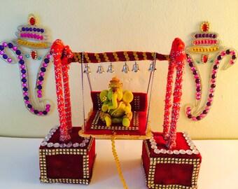 Ganesha Swing /Krishna Swing /Ganesh Chathurthi decorations/ Elephant God Swing /Janamashtami Decorations / Krishan Jula / Bal gopal jula