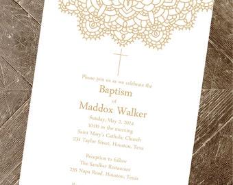 Baptism Invitation   Christening Invite Printable   Printable Invitation   Baptism Invitations   Baby Girl   Baby Boy