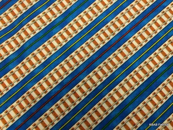 Thomas the train fabric by the yard half fat by kbabfabrics for Train fabric by the yard
