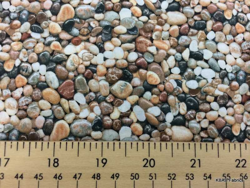 Mexican beach pebbles fabric by the yard fat quarter for Small river pebbles