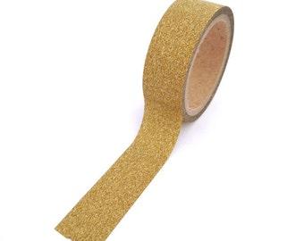 Gold Glitter Washi Tape 15mm x 10m