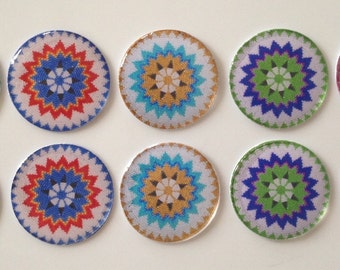 Beaded Look Epoxy Cabs - set of 5 pairs- glitter