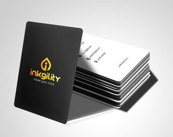 "1000  2"" X 7"" Metallic Ink Business Cards"