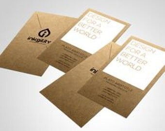 600 Kraft Business Cards Economy Collection