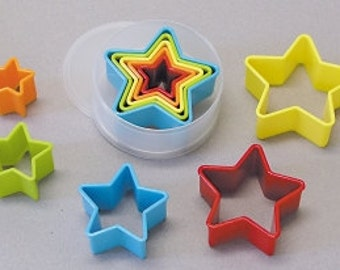 Multi Color Star Biscuit Cookie Cutter Set