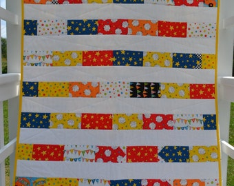 "Baby Boy Quilt, Baby Boy Nursery, Boy Crib Quilt, Crib Quilt, Sheep Quilt, Lamb Quilt, ""Counting Sheep"""