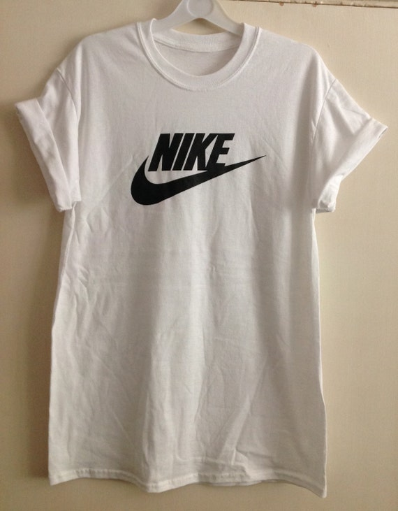 Old school nike swoosh tick top t shirt indie trashy festival for Old school nike shirts