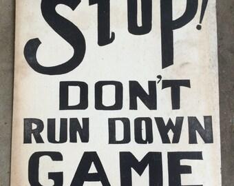 Woodtype Letterpress Poster