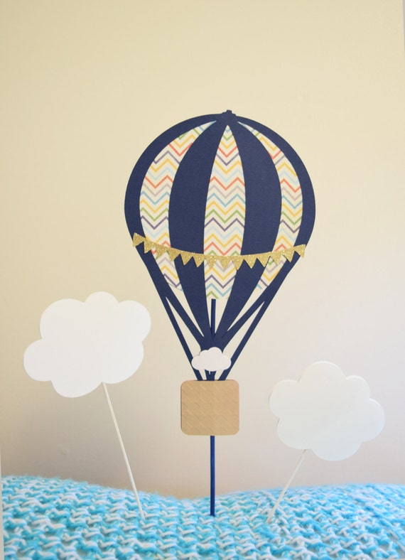 large hot air balloon centerpiece baby shower. Black Bedroom Furniture Sets. Home Design Ideas
