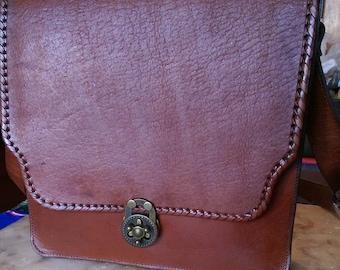 "Genuine Leather Bookbag ""Mochila"", Hand-crafted Bookbag, Brand New- High quality craftsmanship"