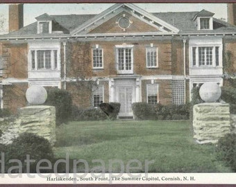 Cornish New Hampshire Vintage Postcard 1914 Harlakenden The Summer Capitol for President Woodrow Wilson Frank Swallow Post Card ~ 4458d