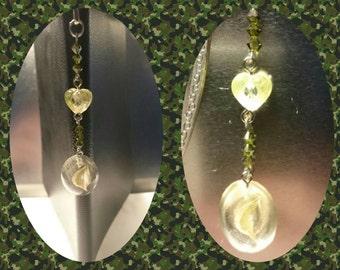 Bookmark green swarovski crystal