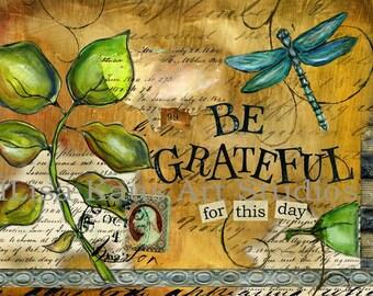 Be Grateful Fall Print