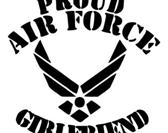 Proud Air Force Girlfriend Die-Cut Decal Car Window Wall Bumper Phone Laptop