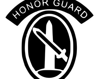 US Army Honor Guard Die-Cut Decal Car Window Wall Bumper Phone Laptop