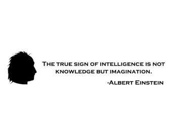 Imagination Albert Einstein Quote Die-Cut Decal Car Window Wall Bumper Phone Laptop