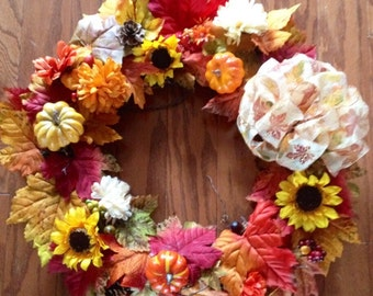 Gorgeous bright & colorful Fall Wreath