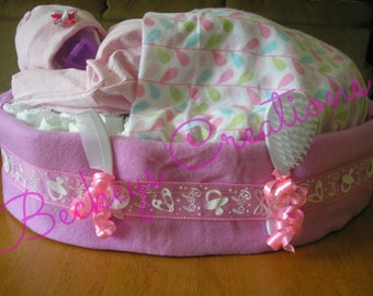Bed Time Diaper Baby Cake