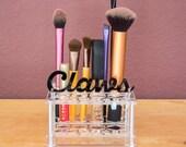 CUSTOM TEXT - Small Brush and Makeup Organizer - Acrylic