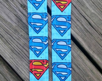 Superman pacifier clip, binky holder