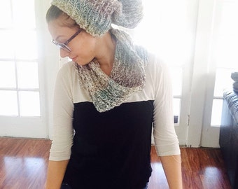 Slouchy Beanie and Matching Scarf