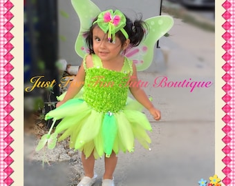 Tinkerbell Tutu Dress, Tinkerbell dress, Tinker-bell costume, Tinkerbell outfit, Tinkerbell birthday outfit, just for fun tutu,deluxe/tinker