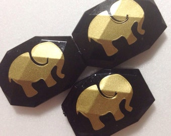 Gold Elephant Bangle Beads in 19 Color Choices! Faceted, Gorgeous Beads - Pick your color!