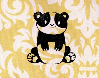 Panda Stamp: Wood Mounted Rubber Stamp
