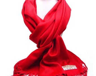 Wedding cover up/ scarf pashmina/ bridal accessories/ bridesmaids gifts/ prom/ gift/ shawl/ RED COLOR pashmina