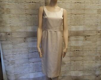 Blush Silk 60's Sheath Sleeveless dress