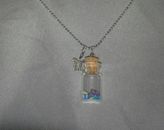 Butterfly Vial Necklace