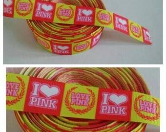 3 yards Pink Ribbons