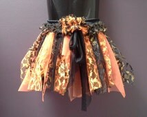 HALLOWEEN GIRLS TUTU, fall costume, tulle tutu skirt, fairy tutu belt, orange black gold, tulle glitter lace, 3 4 5 6  year old, trick treat