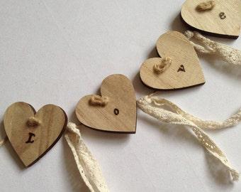 Wooden bunting/garland