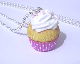 Pink Cupcake Necklace