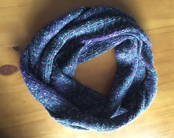 Extra long, twisted infinity scarf