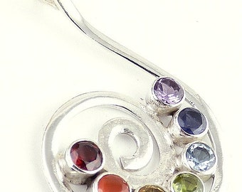 CHOKUREI jewel PENDANT chakra reiki lithotherapy balancing DA23