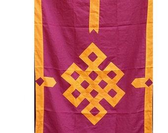 HANGING Tibetan Buddhist endless knot zen meditation inf1