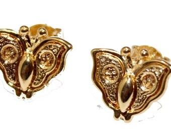Butterfly Stud Earrings 18k Gold Plated  Earrings