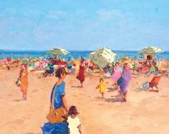 Beach Oil Painting Canvas Painting, Original Beach Art, Canvas Art Oil, Original Art Oil, Gift Ideas