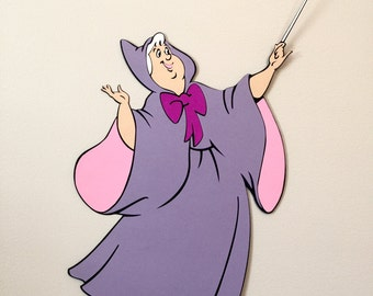 15 in. Tall Cinderella's Fairy Godmother, Disney Party Props