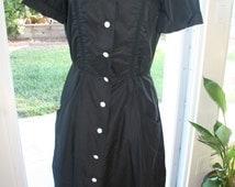 Black and White 1950s Alice's Restaurant/Diner Costume Dress