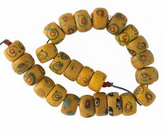 25 antique Venetian Bodom fancy beads, African trade. b11-yo-1016cs(e)