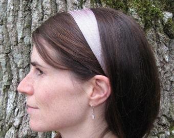 Rose Silver  Silk Headband