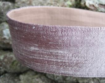 Silver Rose Silk Headband
